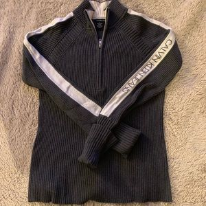Calvin Klein zip up sweater